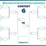 Image for the Tweet beginning: #makeyourcryptoscashable contest is on ! Round