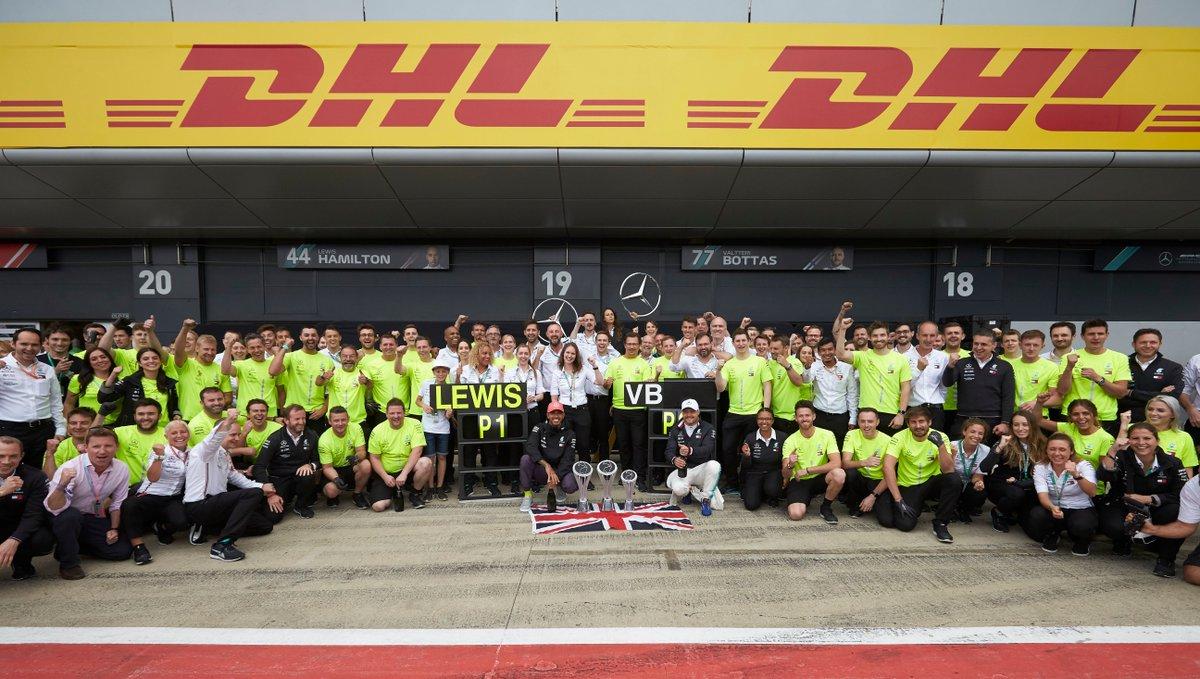 #MomentsThatDeliver ❤️💛 #DHLF1 #BritishGP #F1