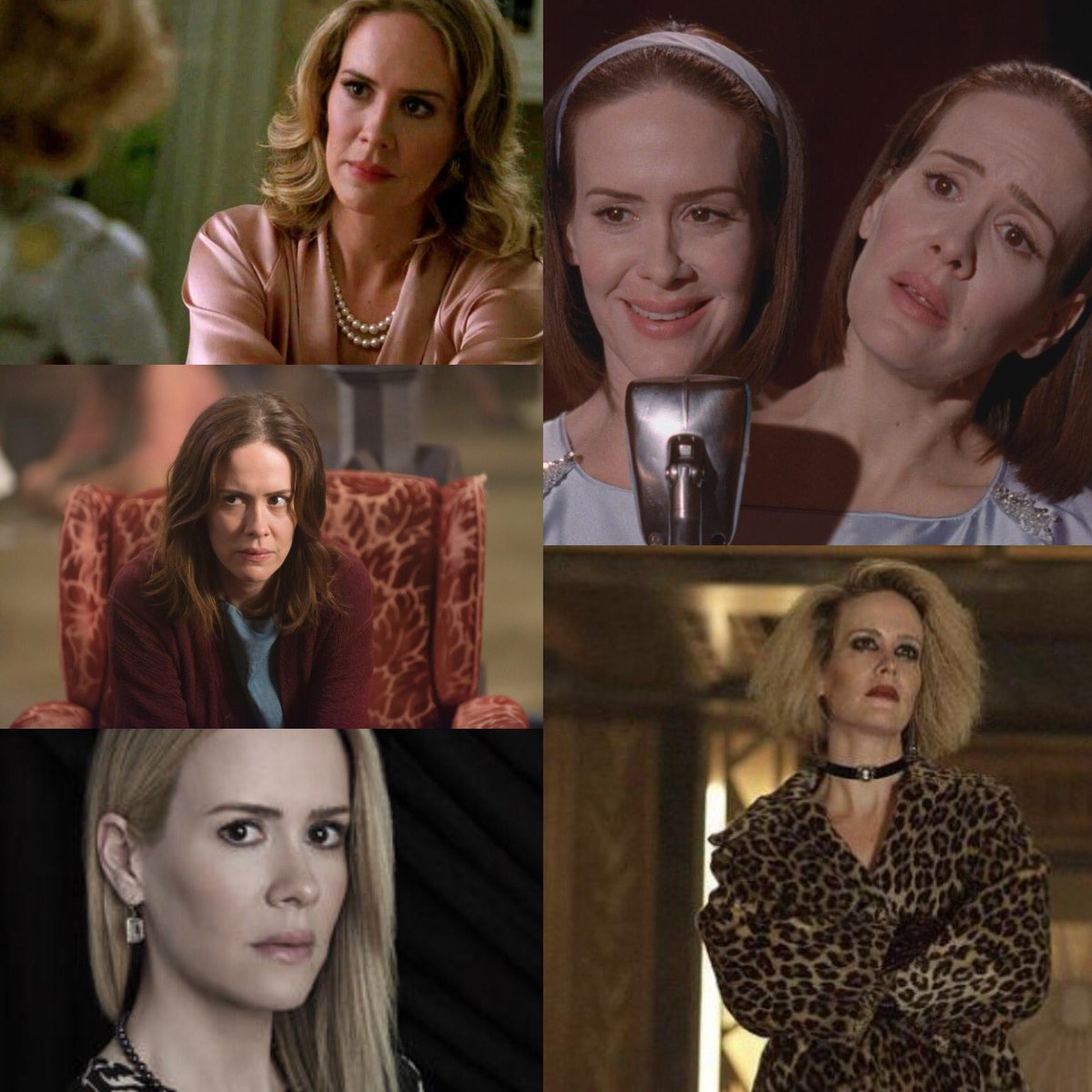 With Evan confirmed not to return, this makes Sarah Paulson the only cast member to appear in all 9 Seasons. #AHS1984 <br>http://pic.twitter.com/Dbz84j2gAg