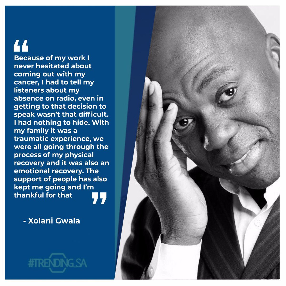 Current Affairs TV and Radio Presenter Xolani Gwala on his survival with cancer. #tsaonline #tsaon3