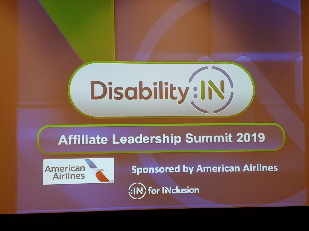 We are excited to kick off the @DisabilityIN Conference this year with the Affiliate Leadership Summit! #disabilityin #inclusion