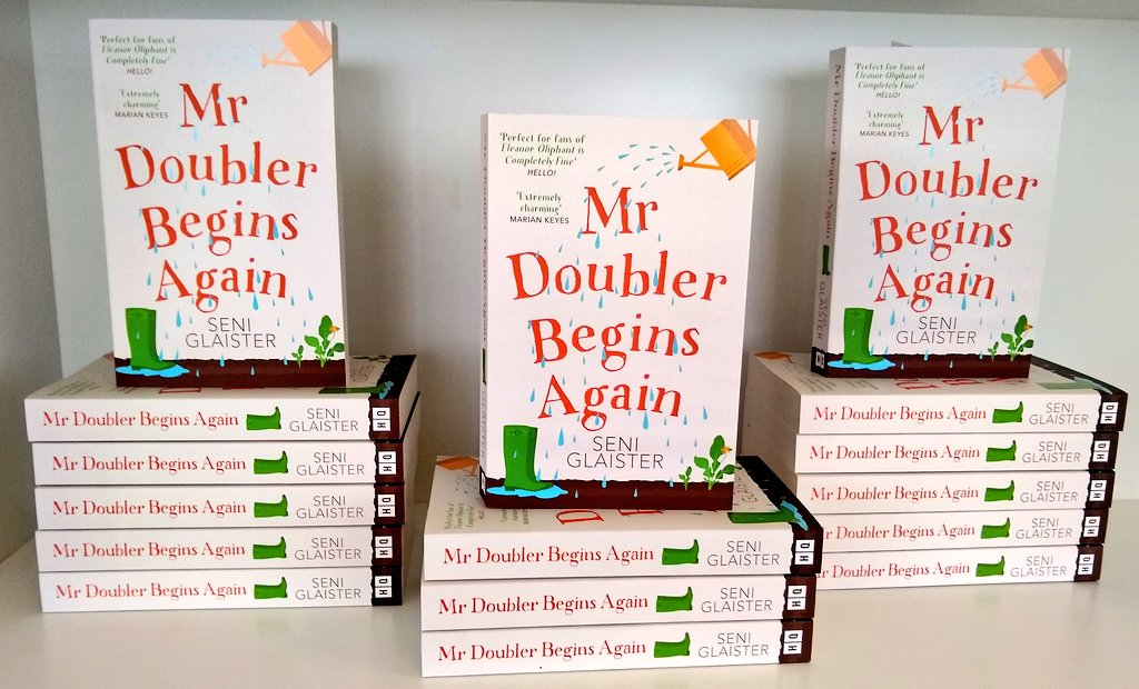 Wellies on, folks - paperbacks of #MrDoubler are here! And just as cheering as what's inside* @SeniGlaister @HQstories   * lemon drizzle cake, gin, a pet donkey - and a grumpy old potato farmer who needs new friends more than he dare admit...