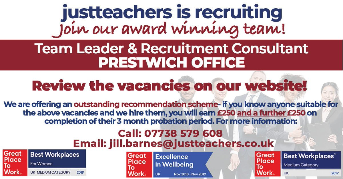 test Twitter Media - Want to work for a triple award winning company in our newly refurbished offices in Prestwich?  https://t.co/lho53rKyQq IF NOT....Find out more about our awesome recruiter recommendation scheme! #Prestwichrecruitmentjobs #teamleader #recruitmentconsultant #referralbonus #GPTW2019 https://t.co/apmvcx6JoE