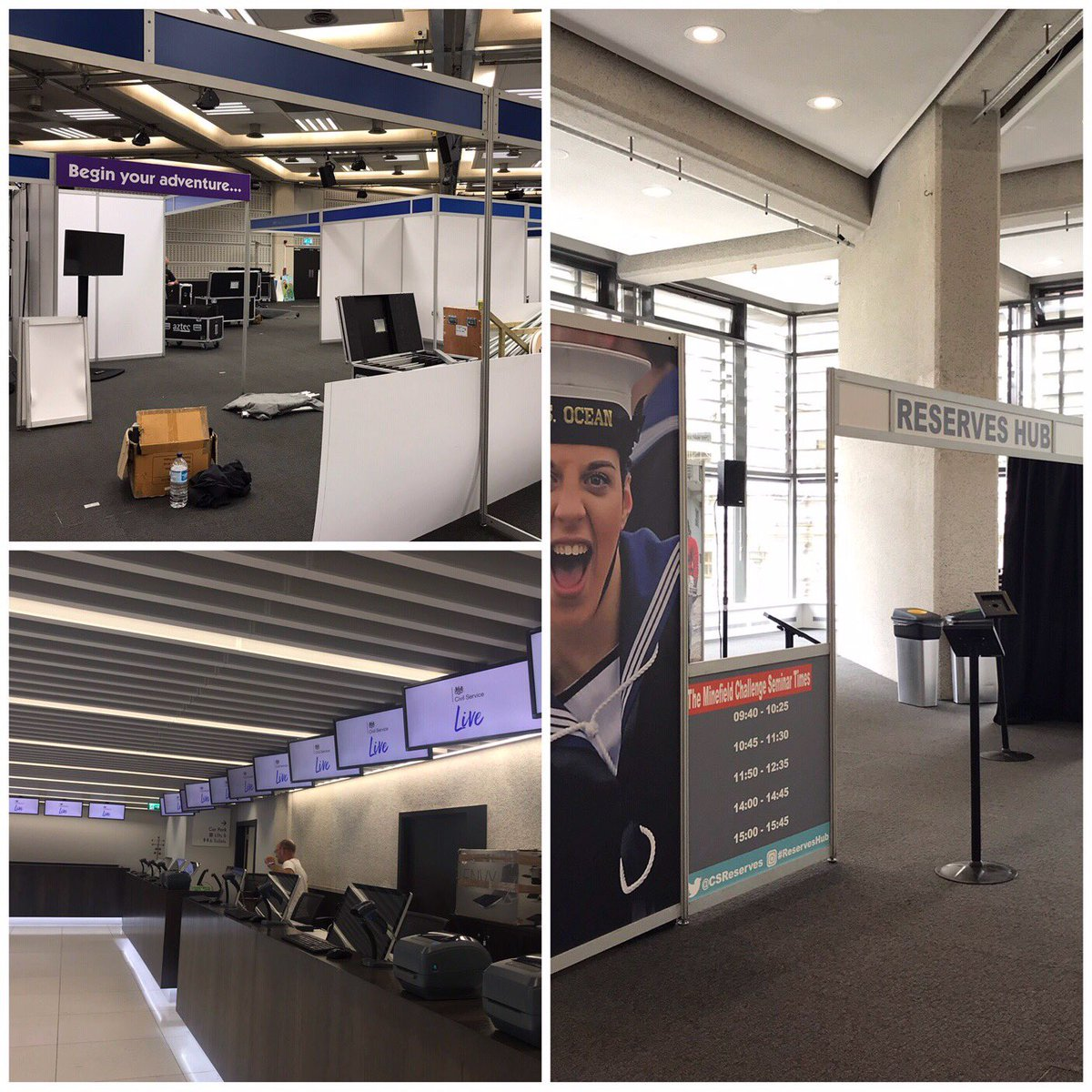 Preparations are well under way at the Queen Elizabeth II Centre. Can't wait to open our doors tomorrow for #CivilServiceLive in London. Looking forward to seeing all those attending