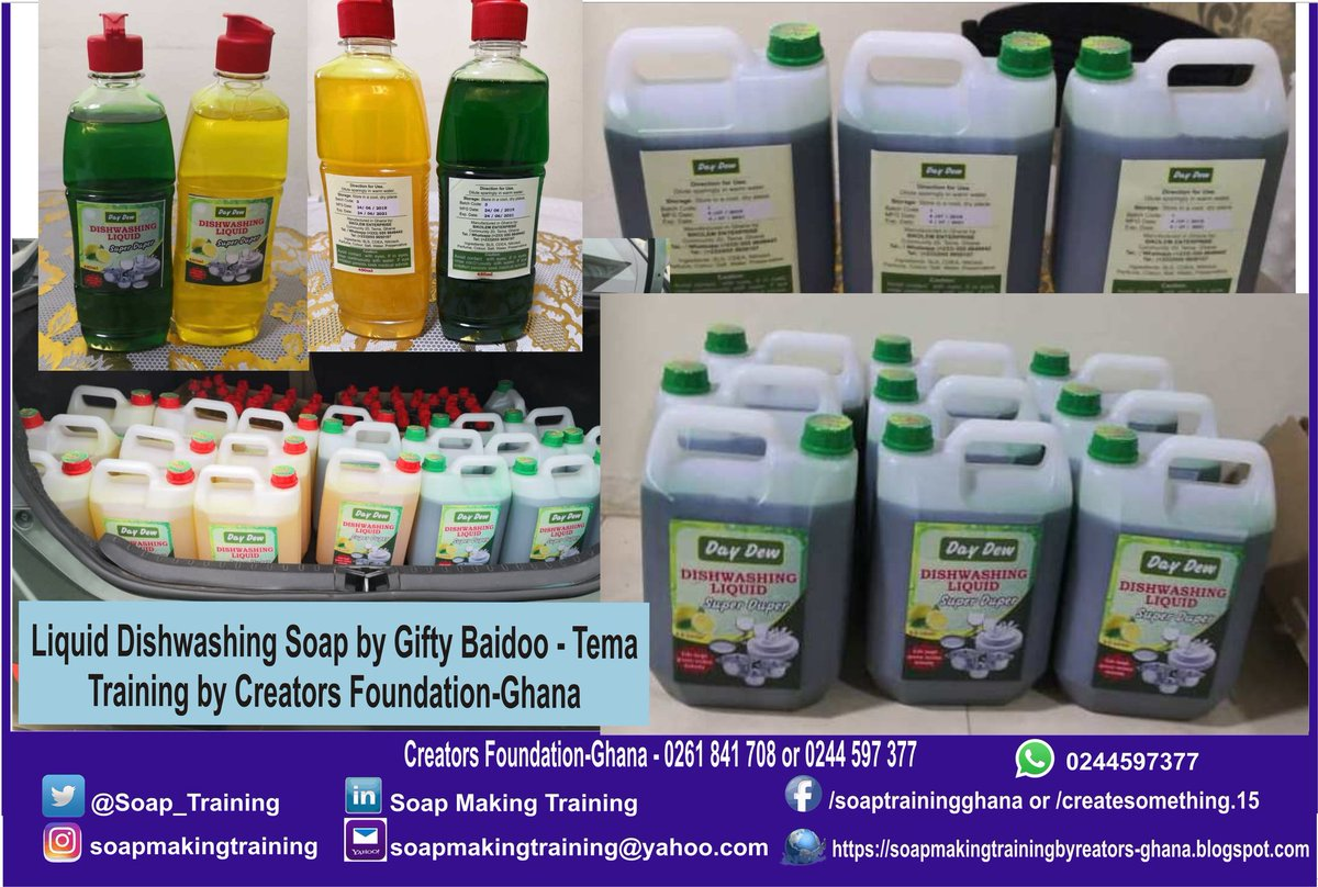 Soap Making training by Creators Foundation-Ghana