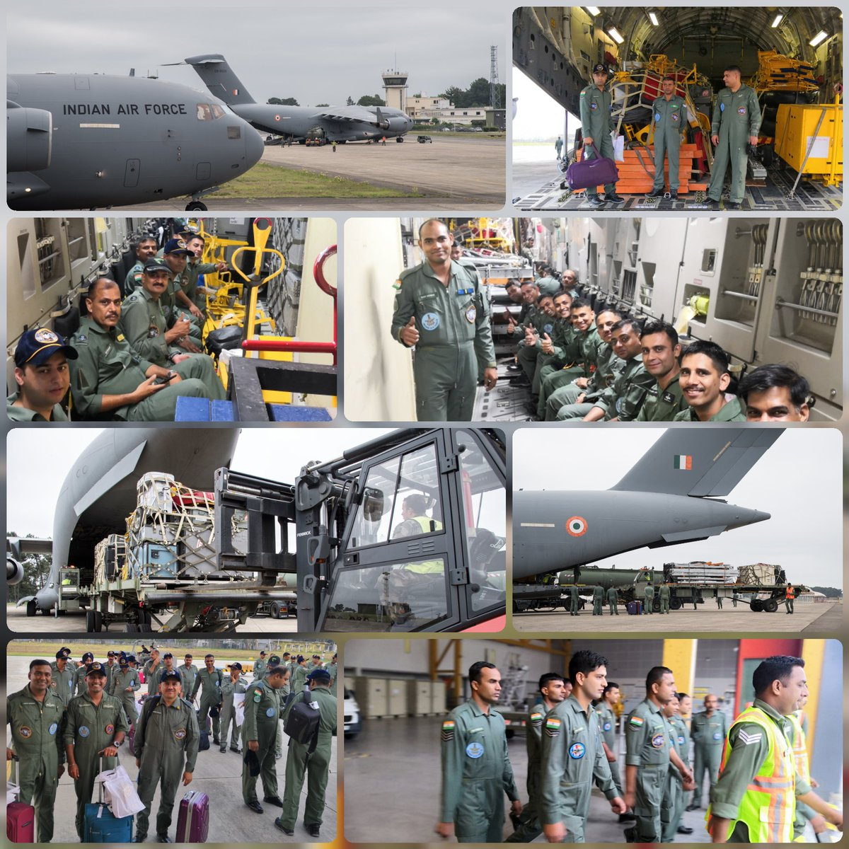 #ExGaruda2019 : The Flying Operations for exercise GARUDA have ended, the IAF team is prepared for de-induction. The big boys are here to take us Home.