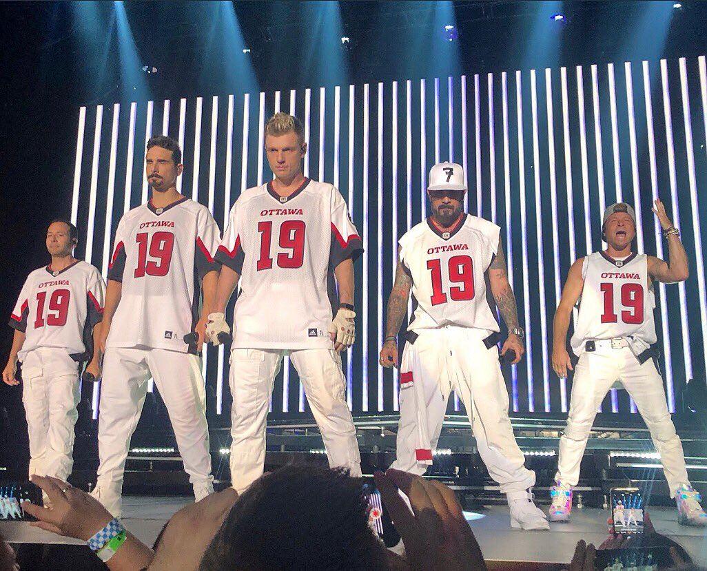 2784d66a Football News: The Backstreet Boys played a concert in Ottawa last night,  and at one point the entire band took the stage in ...