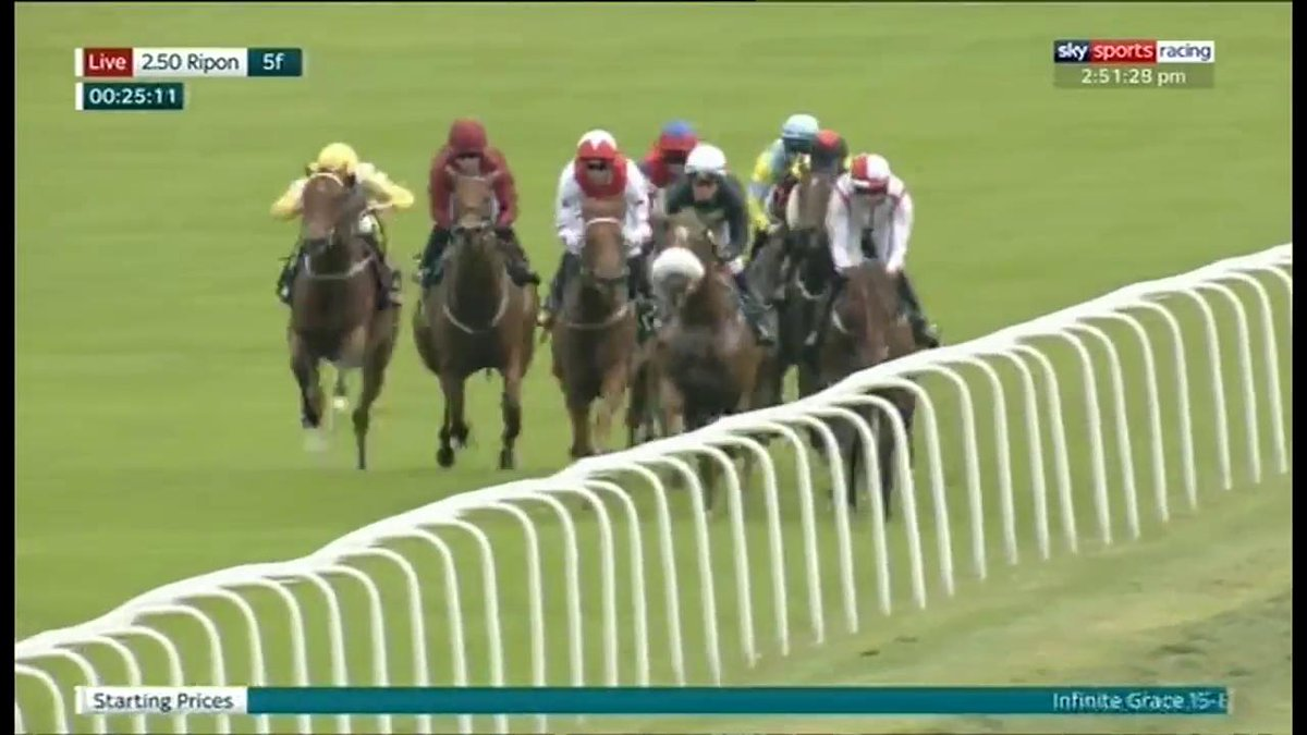 Her dam won two Great St Wilfrids and this daughter of Pepper Lane could be a chip off the old block as Infinite Grace wins in good style at @RiponRaces under Danny Tudhope for @omeararacing...