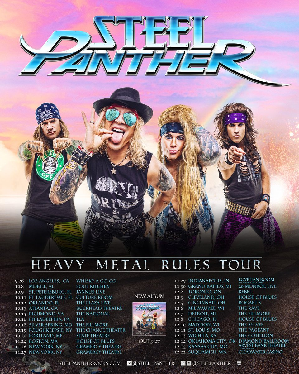 Steel Panther Tour Dates 2020 Steel Panther on Twitter: