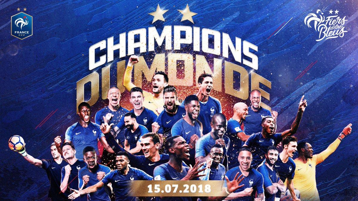 On est Champions du Monde depuis 1 an !! ⭐🎂⭐ #FiersdetreBleus