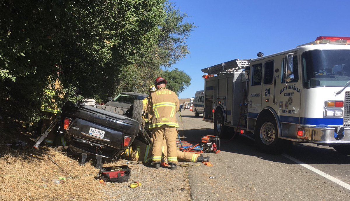Two Injured in Rollover Traffic Collision near Los Alamos