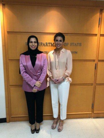 قطر کی وزارت خارجہ کے  ترجمان سے مل کر خوشی ہوئی. قطر کے ساتھ ہماری مضبوط شراکت داری کے ساتھ ساتھ میڈیامصروفیات اور عوامی سفارت کاری پر بڑا اچھا تبادلہ خیال ہوا  مورگن اورٹیگس ترجمان #Qatar #MOFAQatar @Lolwah_Alkhater @StateDeptSpox