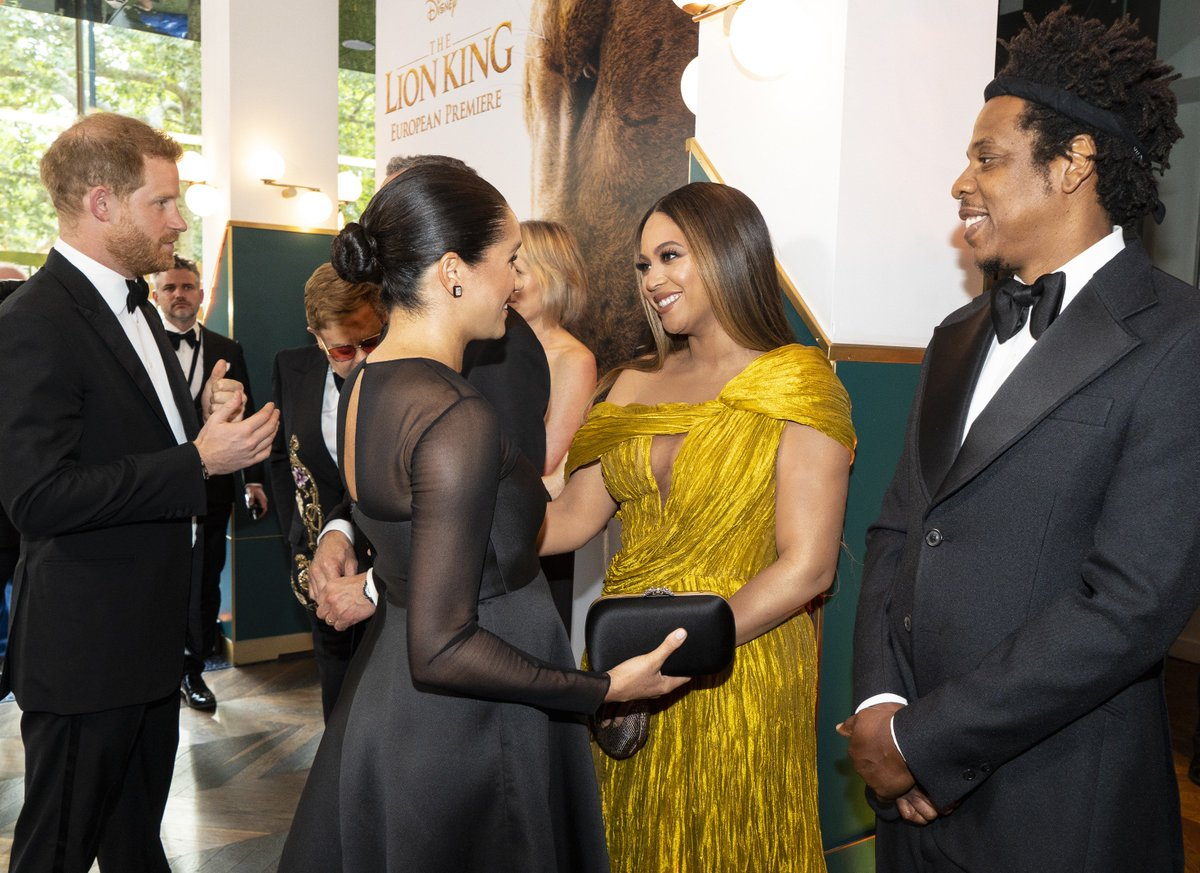 ICYMI: Meghan Markle and her husband met royalty at the #LionKing premiere: