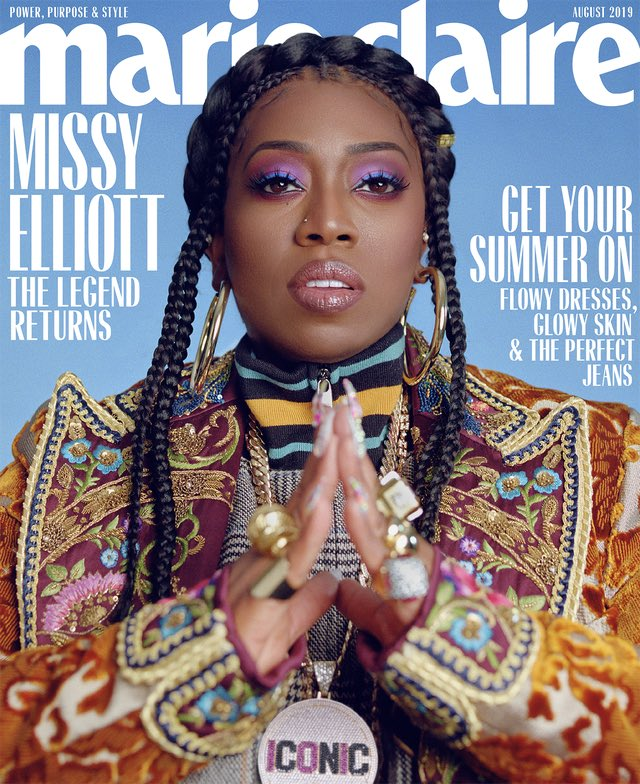Missy Elliot for Marie Claire shot by @micaiah_carter [further credits below]