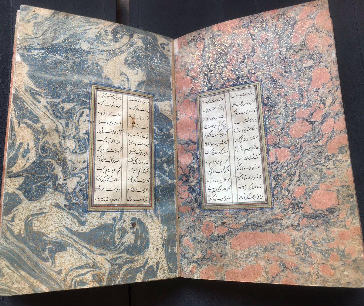 #marbledmondays #bl_islamicillum @BLAsia_Africa Shah va Darvish dated 1521 (Add. 7781)