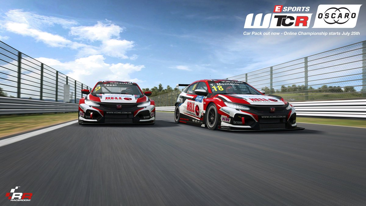 After a tough start to the @FIA_WTCR season, the fortunes recently turned around for @KCMotorgroup, with @AttilaTassi securing a pole, and @Tiagosworld18 winning his first race after his return. Drive their @hondaracingwtcr cars now on RaceRoom! ▶ game.raceroom.com/store/pack/fia…