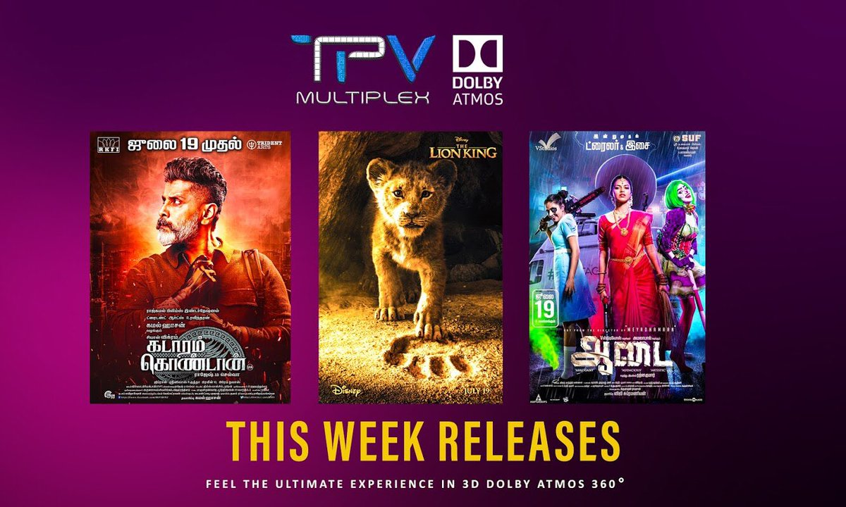 This Week Releases at @TPVMultiplex #DolbyAtmos  Are you