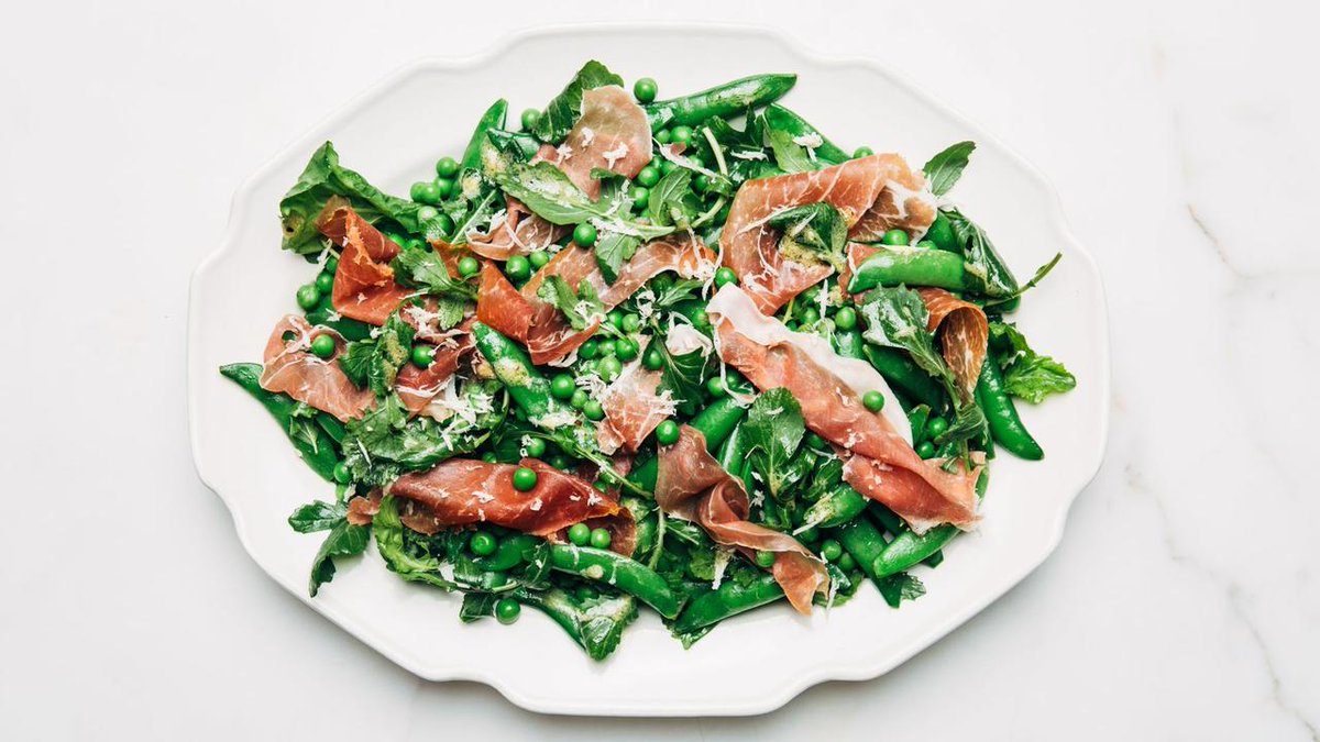 A salad with prosciutto is a salad for us.