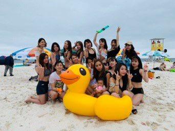 海の日なので海いってきた(^.^)白良浜💚毎年海の日と年末は集まる高校の同級生👏🏻水着は韓国のスタイルナンダで3000円くらいスタイルナンダの水着やすくてカワ