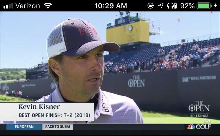 Open Championship 2019: American hero Kevin Kisner rocks '1776' hat to Royal Portrush practice round