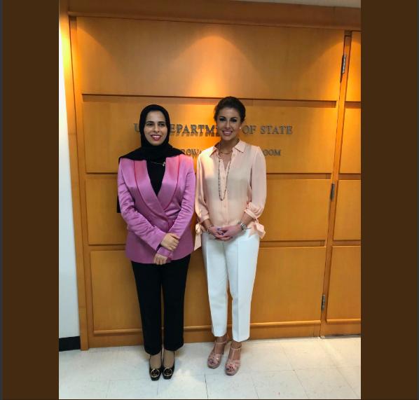 क़तर के विदेश मंत्रालय की प्रवक्ता से मिलकर काफ़ी खुशी हुई। क़तर के साथ हमारी मज़बूत साझेदारी, और साथ ही मीडिया के साथ संपर्क और सार्वजनिक कूटनीति पर बेहद अच्छी चर्चा हुई।  मॉर्गन ऑर्टेगस, प्रवक्ता @statedeptspox #Qatar #MOFAQatar  @Lolwah_Alkhater