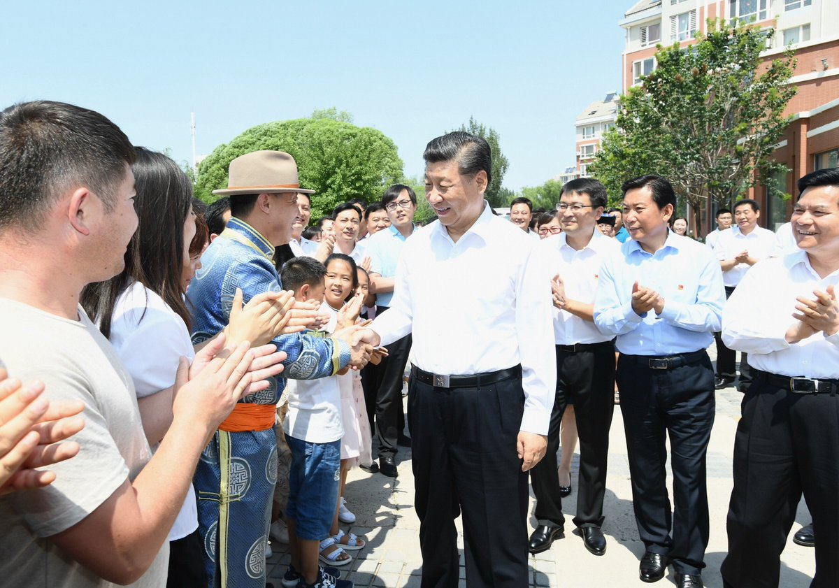 Xi Jinping went on an inspection tour in north China's Inner Mongolia Autonomous Region Monday http://xhne.ws/CAKDE