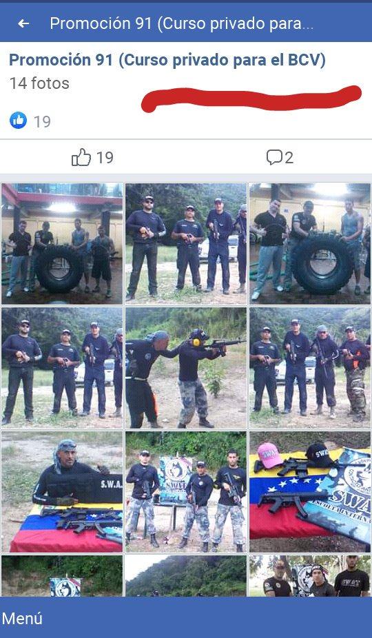 Academia #Swat del #escoltadeGuaidó Jeison Parisi (preso por intentar vender fusiles #AK103) ofreció curso privado para personal del Banco Central de Venezuela #BCV en NOV2016 según álbum publicado en página Facebook de Contacto Akita Inu facebook.com/75896444080029…