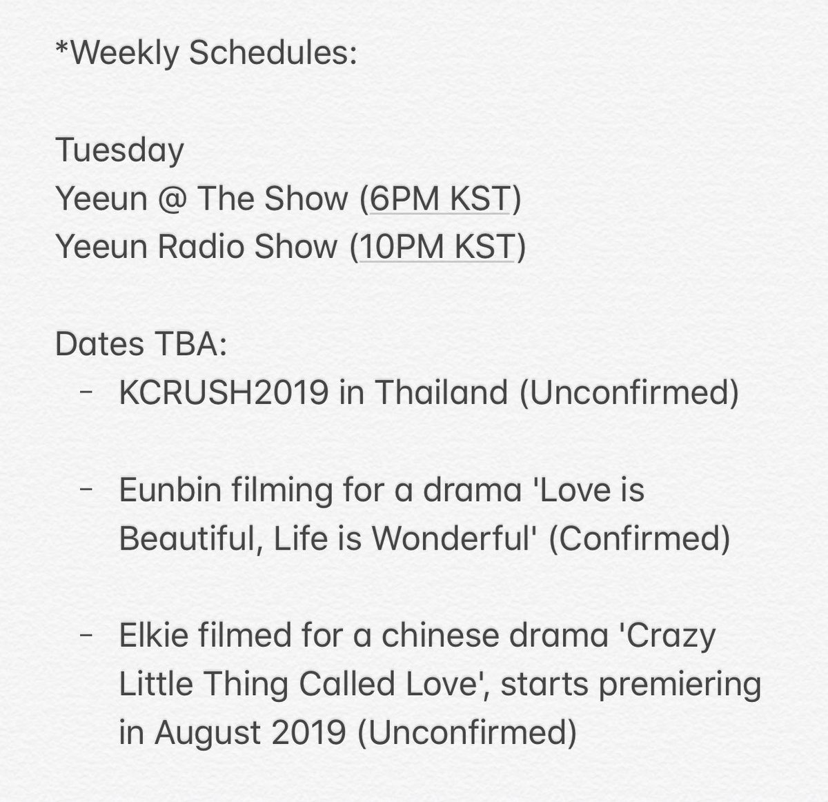 clc_schedule hashtag on Twitter