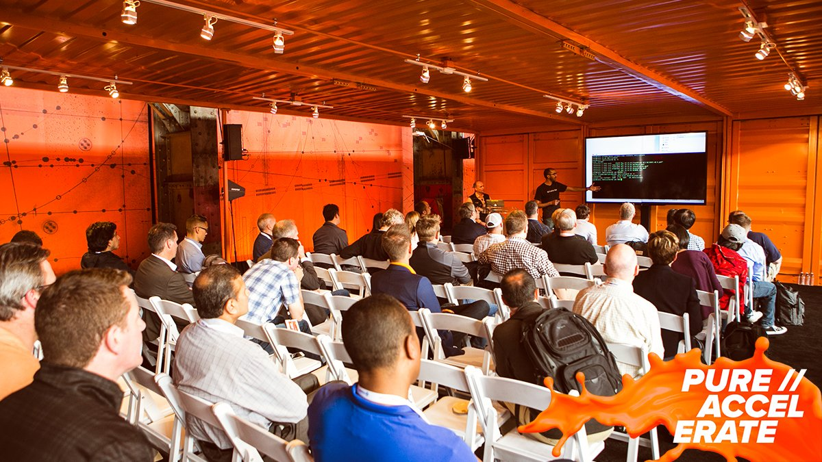 "Be sure not to miss @PureAccelerate! People love this event for various reasons, one being ""having engineers on the floor and willing to participate and answer questions was awesome."" Connect with our experts at #PureAccelerate! purefla.sh/2lxMiJh"