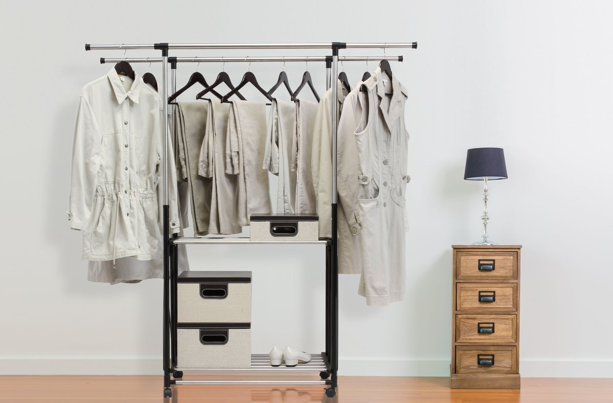 If you are looking for a heavy duty clothing rack, then look no further than the GRGR200 Greenway Stainless Steel Collapsible Double-Bar Garment Rack. With a total of 21.9 ft of hanging space and 83.8 lbs of load capacity, it is sure to handle all of y ... https://t.co/oGyXNphMQJ https://t.co/JNy1Tfp8C2