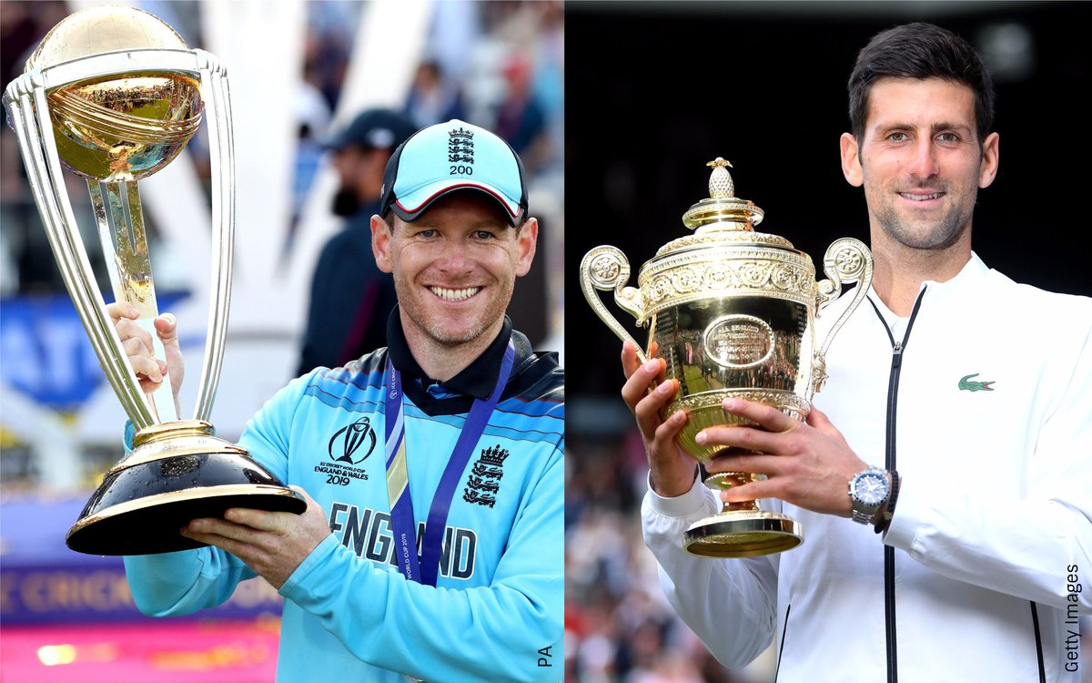 ✅ England winning the Cricket World Cup for the first time #CWC19Final  ✅ Novak Djokovic beating Roger Federer to win #Wimbledon  Two finals brought to nail-biting finishes, but when they're on at the same time in the same city, which one do you watch? 😲