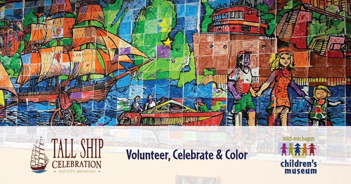 Tall Ship Celebration returns to #BayCity #Michigan, July 18-21! Let's help children create a mural at this epic event. Get involved here: https://www.tallshipcelebration.com/get-involved#volunteer…