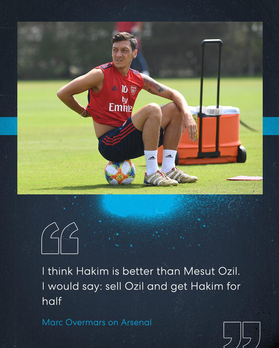 #Arsenal legend Marc Overmars thinks that the club should sell Mesut Özil and buy Ajaxs Hakim Ziyech 👀 Is he right? 🤔 #AFC