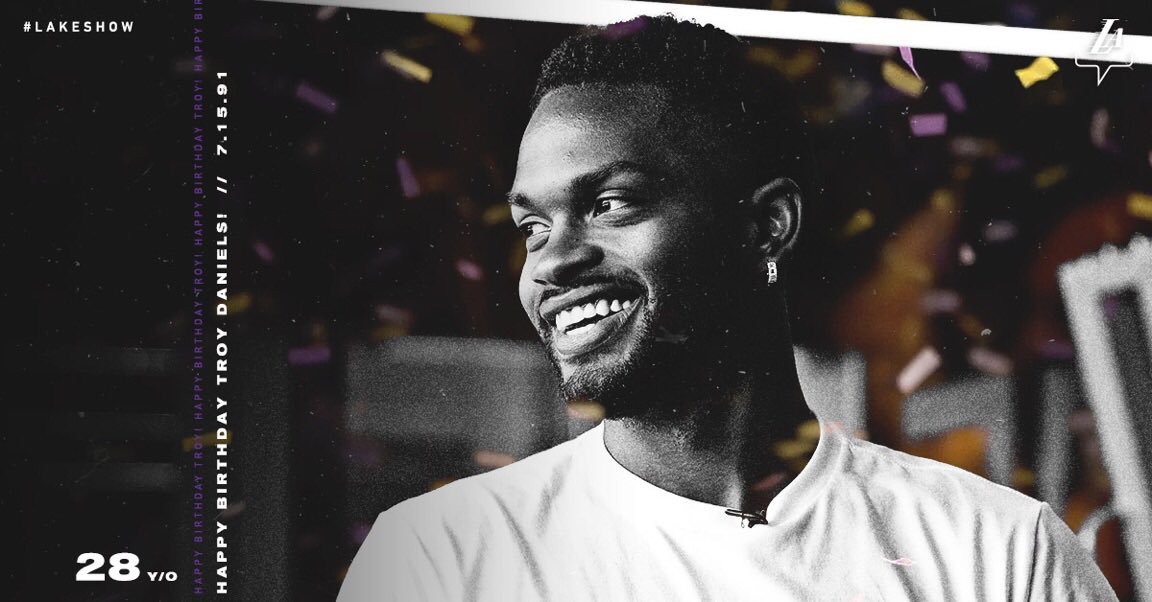 HBD to one of the newest #LakeShow members, @troydaniels!