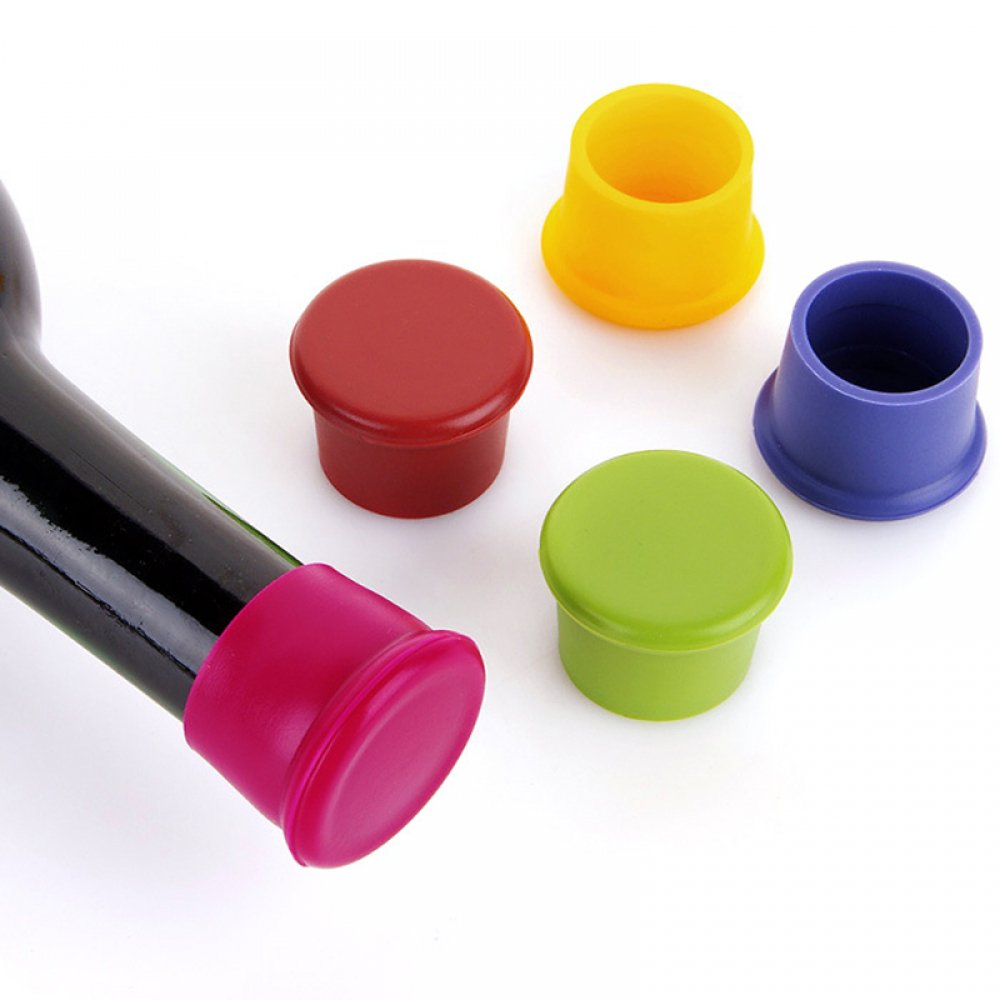 #Cookware #Tools #Living Colorful Silicone Wine Stopper