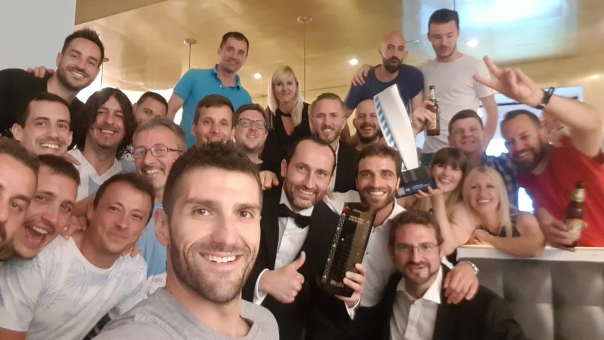 I have no words after having raised yesterday the trophy of the #FormulaE Engineer of the Year award, but it belongs to everyone involved in @MahindraRacing .Guys, youre amazing, THE KEY IS THE GROUP. Huge Thank You!!