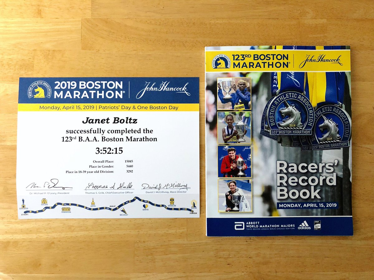 A cool surprise showed up in the mail today! It doesn't seem promising that Boston will fit in the budget next year, but I'm so thankful I had the opportunity to at least do it once. Hopefully I'll go through that amazing experience again in the future. #bostonmarathon <br>http://pic.twitter.com/wlqK5z65sj