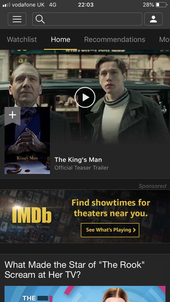 The @IMDb app with a little visual serendipity there...