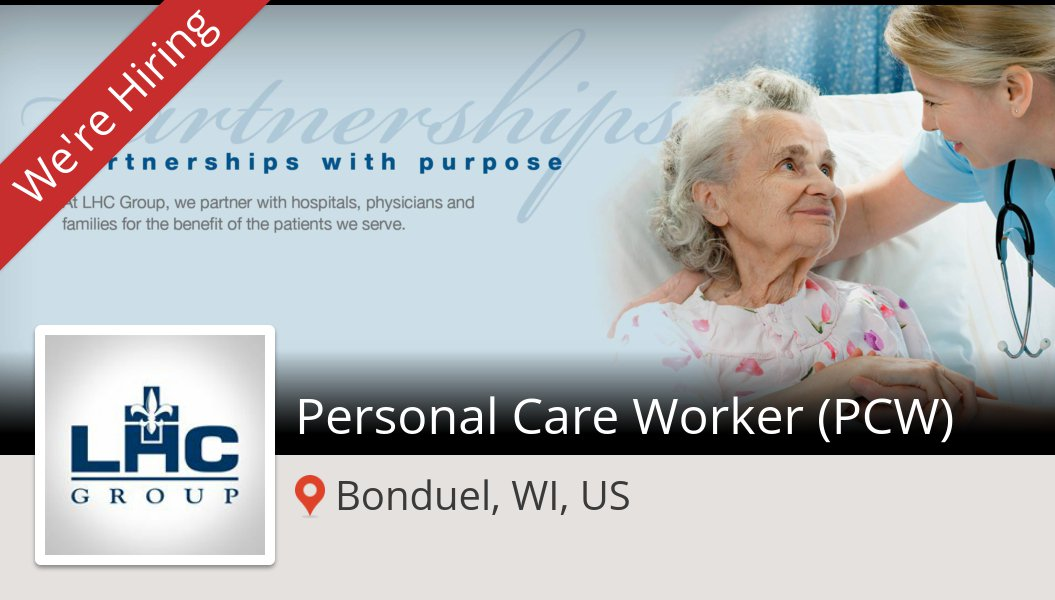 #LHCGroup is looking for a #Personal Care #Worker (PCW), apply now! (#BonduelWIUS) #job https://t.co/hefxl4DNlg https://t.co/3p2xaYrWgk