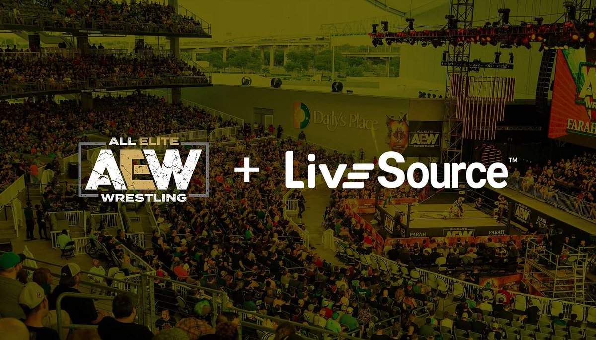 """Very excited to announce a partnership with @AEWrestling!  """"The LiveSource app will enhance our fans' experiences right from their seats in ways that have never been done before."""" -Dana Massie  Full announcement: https://www.allelitewrestling.com/post/livesource-announces-partnership-with-all-elite-wrestling…  #AEW #Wrestling"""