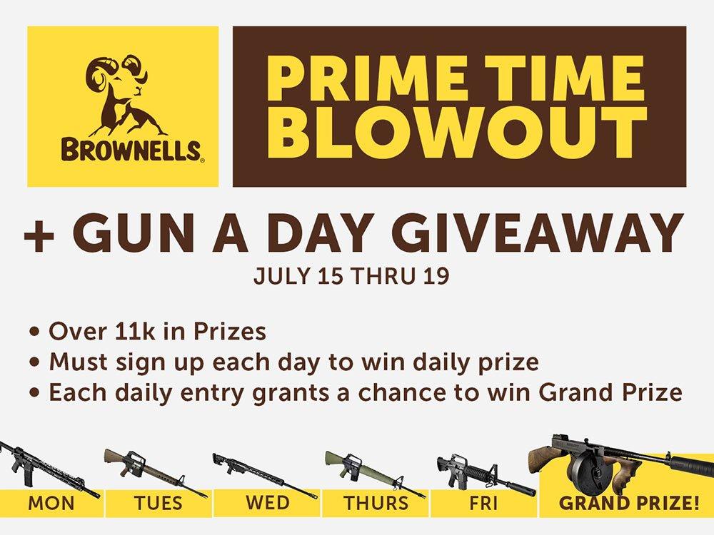 Brownells Prime Time Blowout Features Deals & Free Guns http://dlvr.it/R8Svjc #ammo