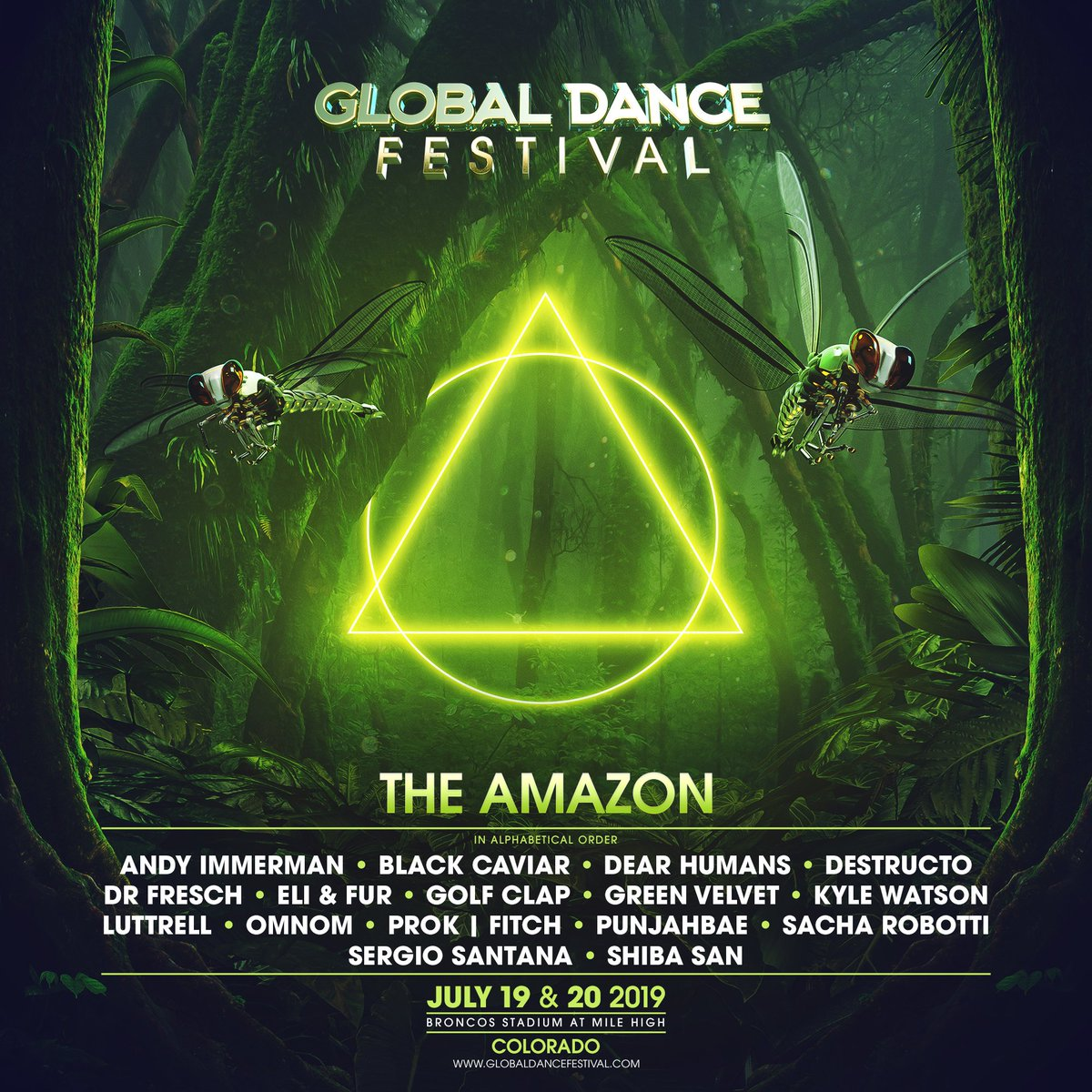 The Global Dance Festival Amazon lineup for 2019
