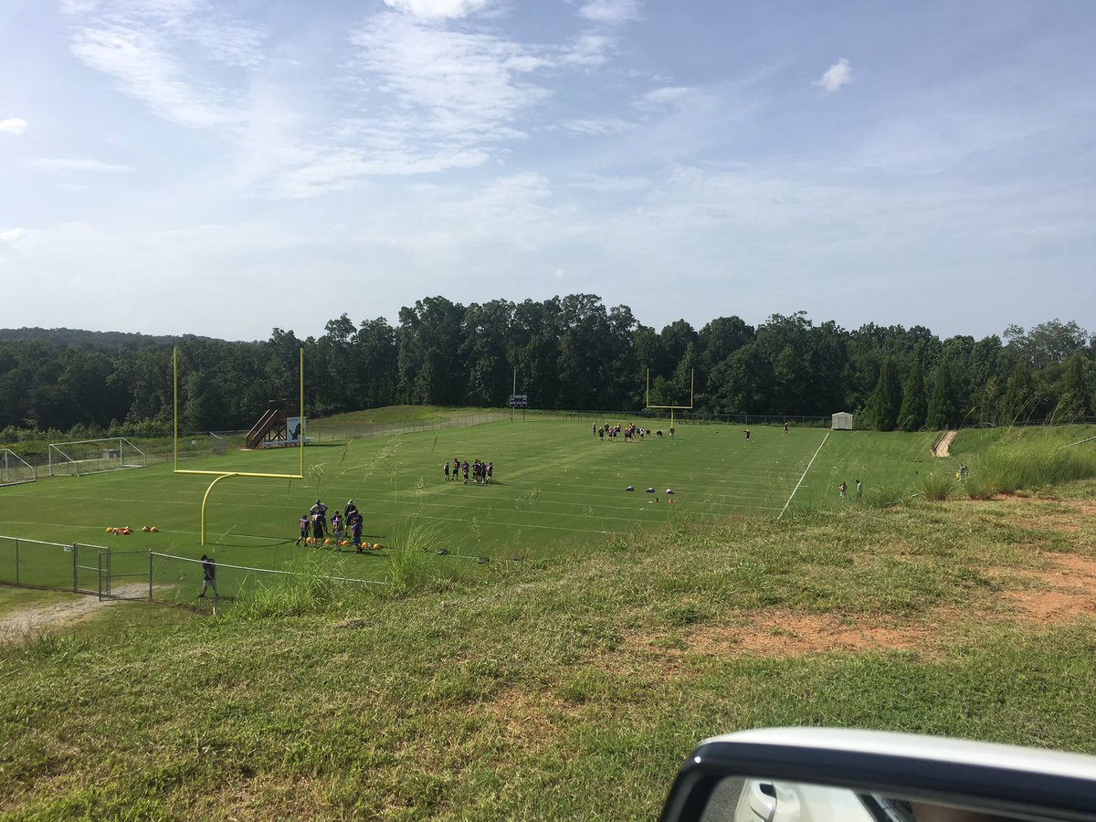 First day of 8th grade football practice for @BaylerDuncan. Decided to come check it all out in the cheap seats 😎 #TeamDuncan
