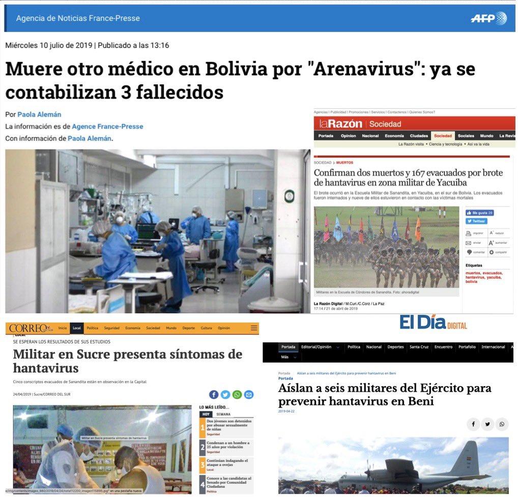 Durante este año el #Hantavirus y el #Arenavirus causaron temor en La Paz, Beni, Tarija y Sucre. Es ahora cuando deben comprometerse todos los recursos necesarios para proteger la salud de las familias bolivianas y garantizar el trabajo de los médicos.