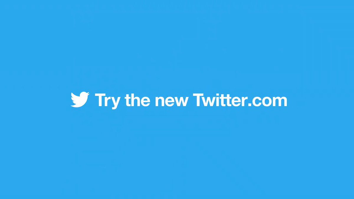 Woah, what's this? A shiny new https://Twitter.com  for desktop? Yup. IT'S HERE.
