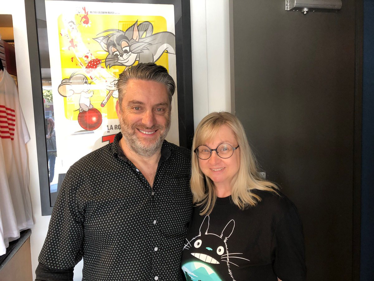 At #NewBeverlyCinema ran into fellow colleague #DavidBowers #RugratsReboot #DiaryOfAWimpyKid #Director #Movie #CherylChase #AngelicaPickles 🎬🎥🎧🎤⭐️