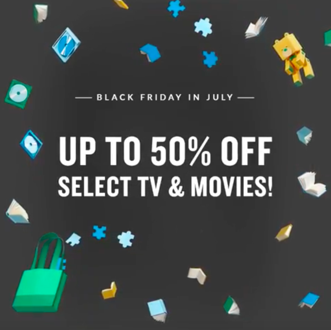 Black Friday in July continues! Get up to 50% off select TV & movies: spr.ly/6018Ev75I