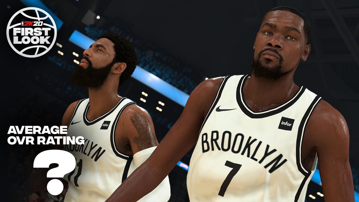 KD and Kyrie 👀 What is the average rating for this new duo? Tap below to set a reminder for the #2KRatings Reveal livestream only on Twitter 👇  🔗 https://twitter.com/i/events/1144346031267561472… 🗓 Tonight ⌚ 8pm ET/5pm PT