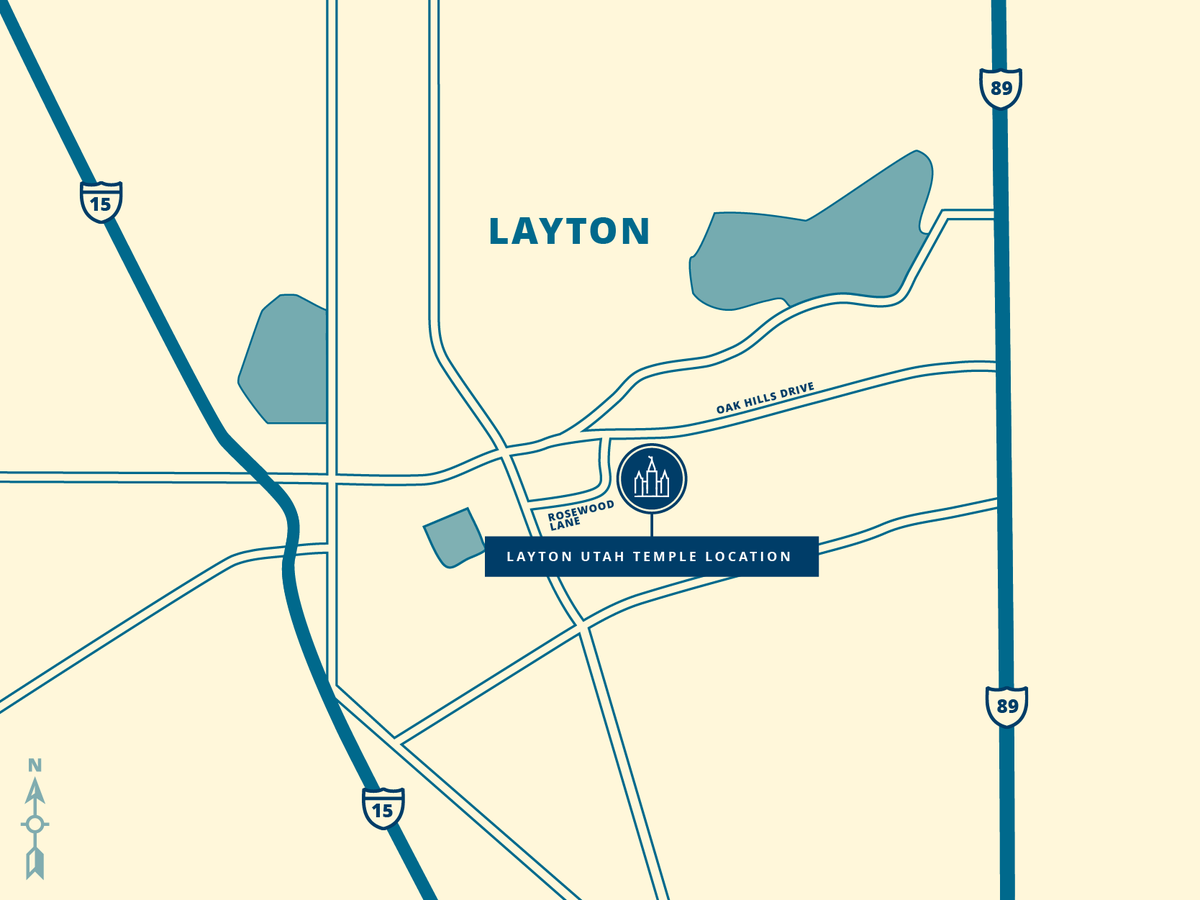 The Layton Utah Temple, which was announced in April 2018 by Church President Nelson, will be built on an 11.8-acre site located at the corner of Oak Hills Drive and Rosewood Lane in Layton City, about 25 miles north of Salt Lake City. newsroom.churchofjesuschrist.org/article/layton… @NelsonRussellM