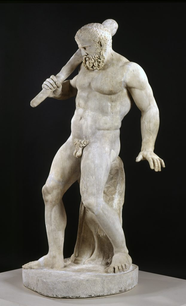 "Today's Art Spotlight is ""Herakles,"" by an unknown Roman artist from the 2nd century. Excavated in the Roman Forum in 1771, this statue Greek hero Herakles depicts him in one of his less glorious moments. Learn why at  http:// bit.ly/2RPP6xn      & in our Instagram Story! #NCMAlearn<br>http://pic.twitter.com/dyy6S4jd7q"